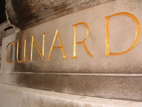 Cunard Building inscription