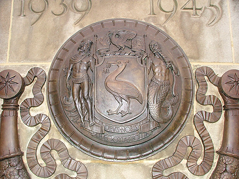 Liverpool coat of arms bronze