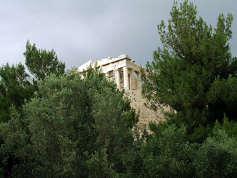 Parthenon, Athens: beaten by the call of the bevvy