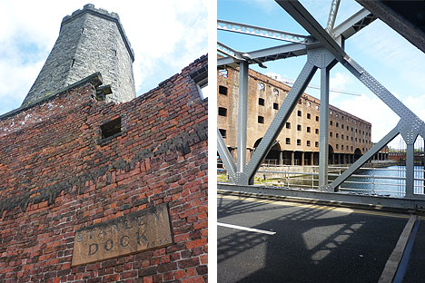 Stanley Dock's original architecture and the view from the Bascule Bridge